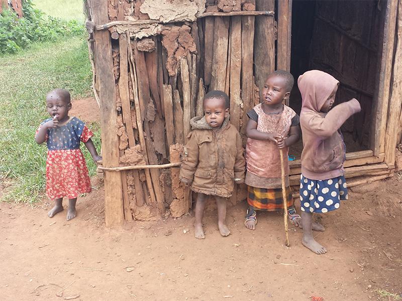 Maasai children we help of the Loita Hills, Kenya - These children live in huts made of wood & mud.